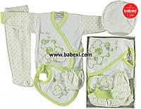 Подарочный комплект 5 предметов для новорожденного 0-3 мес.
