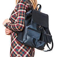Большой классический рюкзак черный универсальный