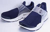 Беговые кроссовки мужские Nike Air Presto New Sock Dart темно синие с белым