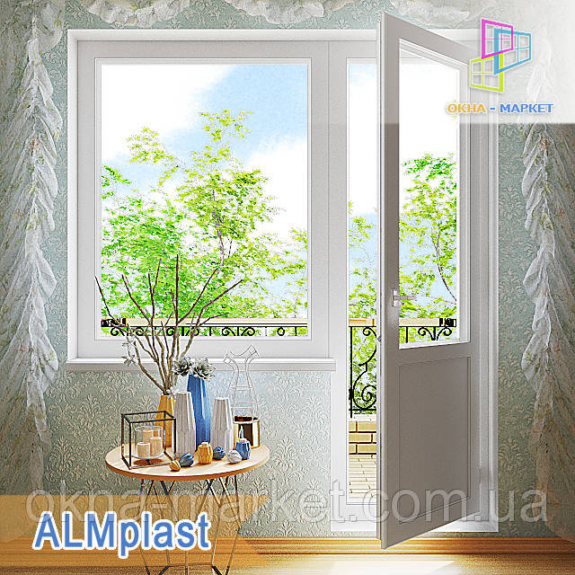 Выход на балкон в профильной системе ALMplast компания