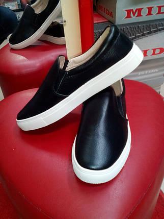 Слипоны  женские черные Allshoes., фото 2