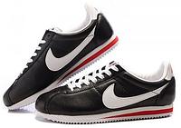 Крутые кроссовки мужские Nike Cortez  черные с белым