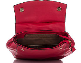 Вместительный женский рюкзак из искусственной кожи красного цвета, фото 3
