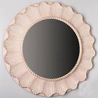 "Зеркало настенное ""Солнышко"", бежевое, 61 см."
