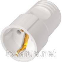 Розетка штепсельная переносная с заземляющим контактом