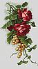 Luca-S Набор для вышивки крестом Красные розы с виноградом