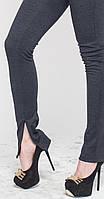 Леггинсы-штаны под каблук синяя клетка