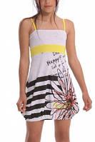 Летнее тончайшее детское платья-сарафан для девочки с ромашкой Desigual, Испания