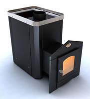 Печь для сауны c выносом  Визуал  ПКС 04 Дверца со стеклом 310х310 мм