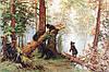Luca-S Набор для вышивки крестом Утро в сосновом лесу