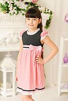 Нарядное летнее платье для девочки с кружевом