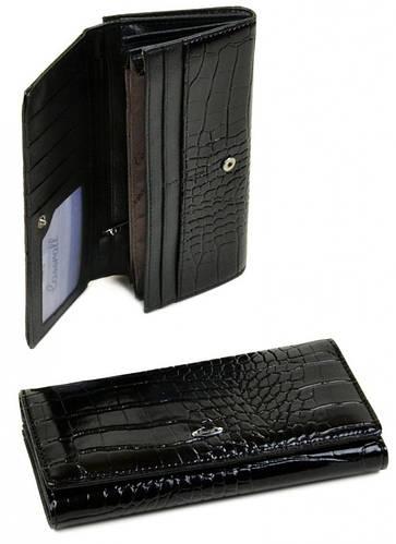 Привлекательный женский кошелек Cossrol искусственная кожа WD-3 black