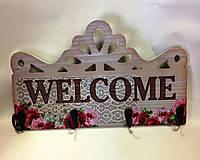 Панно,Welcome, Прованс, 4 крючка, Декор для дома, Днепропетровск, фото 1