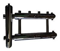 Распределительный коллектор на 2 пары выходов в сборе с гидрострелкой