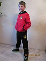 Детский спортивный костюм Ferrari с начесом Красно-черный