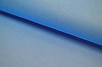Однотонная польская бязь голубая (джинсовый цвет) №178