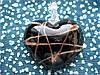 Кулон - сердечко из муранского стекла 3х3,5см Мурано S-02