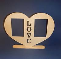 Рамка LOVE (сердце) заготовка для декора
