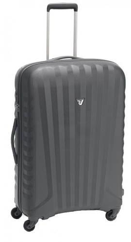 Средний дорожный чемодан из поликарбоната 70 л. Roncato UNO ZIP SPOT 5082/02/22 антрацит