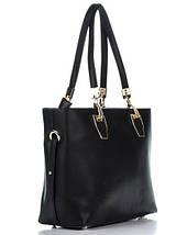 Сумка в сумке женская из искусственной кожи черного цвета, фото 3