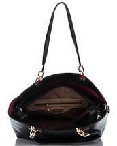 Сумка в сумке женская из искусственной кожи черного цвета, фото 2