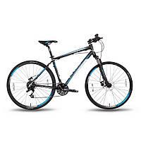 "Велосипед 28'' PRIDE CROSS 2.0 рама - 17"" черно-синий матовый 2016, фото 1"