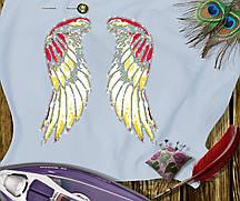 Наклейка комбинированная на ткань Крылья