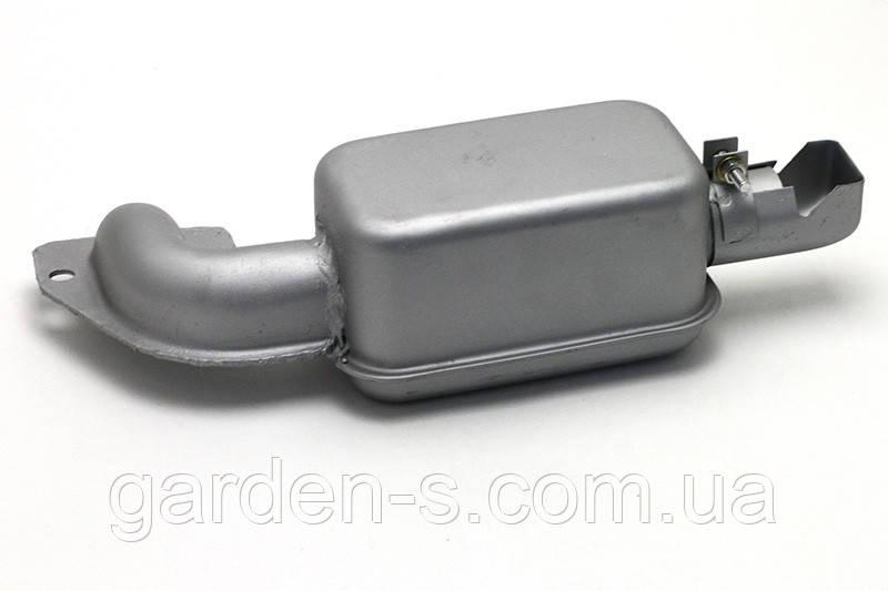 Глушитель на мотоблок R190 серебристый квадратный