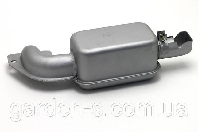 Глушитель на мотоблок R190 серебристый квадратный, фото 2
