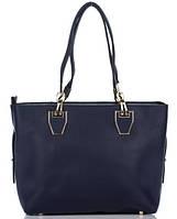Сумка в сумке женская из искусственной кожи синего цвета