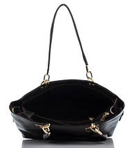 Сумка в сумке женская из искусственной кожи шоколадного цвета, фото 2