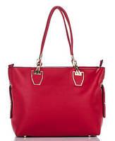 Сумка в сумке женская из искусственной кожи красного цвета