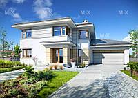 MX83. Современный двухэтажный дом, оформленный в светлых тонах, фото 1