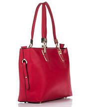 Сумка в сумке женская из искусственной кожи красного цвета, фото 3