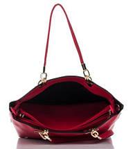 Сумка в сумке женская из искусственной кожи красного цвета, фото 2