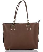Сумка в сумке женская из искусственной кожи коричневого цвета