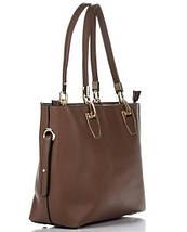 Сумка в сумке женская из искусственной кожи коричневого цвета, фото 3