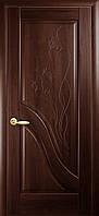 Межкомнатные двери Амата глухое с гравировкой (золотая ольха, каштан, ясень)