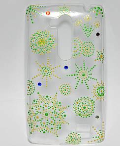 Чехол на LG L Fino D295 накладка ручной работы, Весенняя абстракция