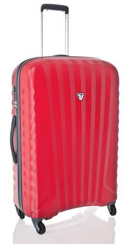 Средний пластиковый вместительный чемодан 70 л. Roncato UNO ZIP SPOT 5082/02/09 красный