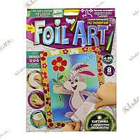 FOIL ART Аппликация фольгой по номерам «Зайка», фото 1