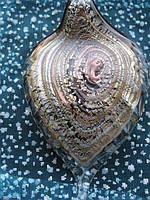 Кулон - листик из муранского стекла 8х5см F-04, фото 1