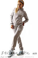 Костюм спортивный Адидас теплый серый, фото 1