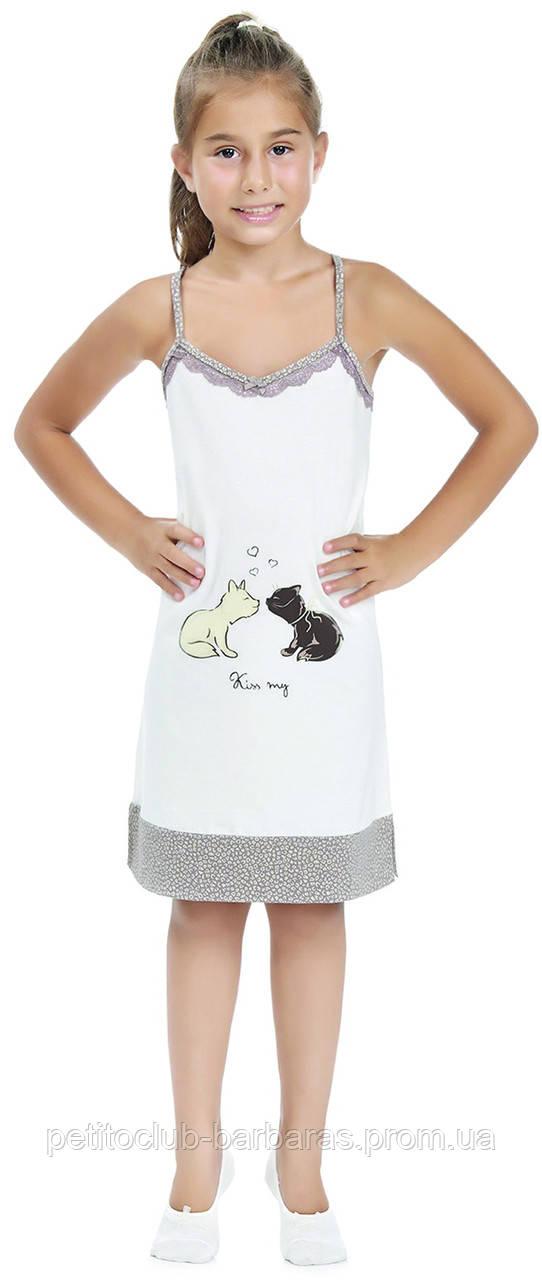 """Ночная рубашка для девочки """"Kiss my"""" (Турция)"""