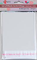 Набор белых перламутровых заготовок для открыток, 10см*15см, 250г/м2, 5шт.   952240
