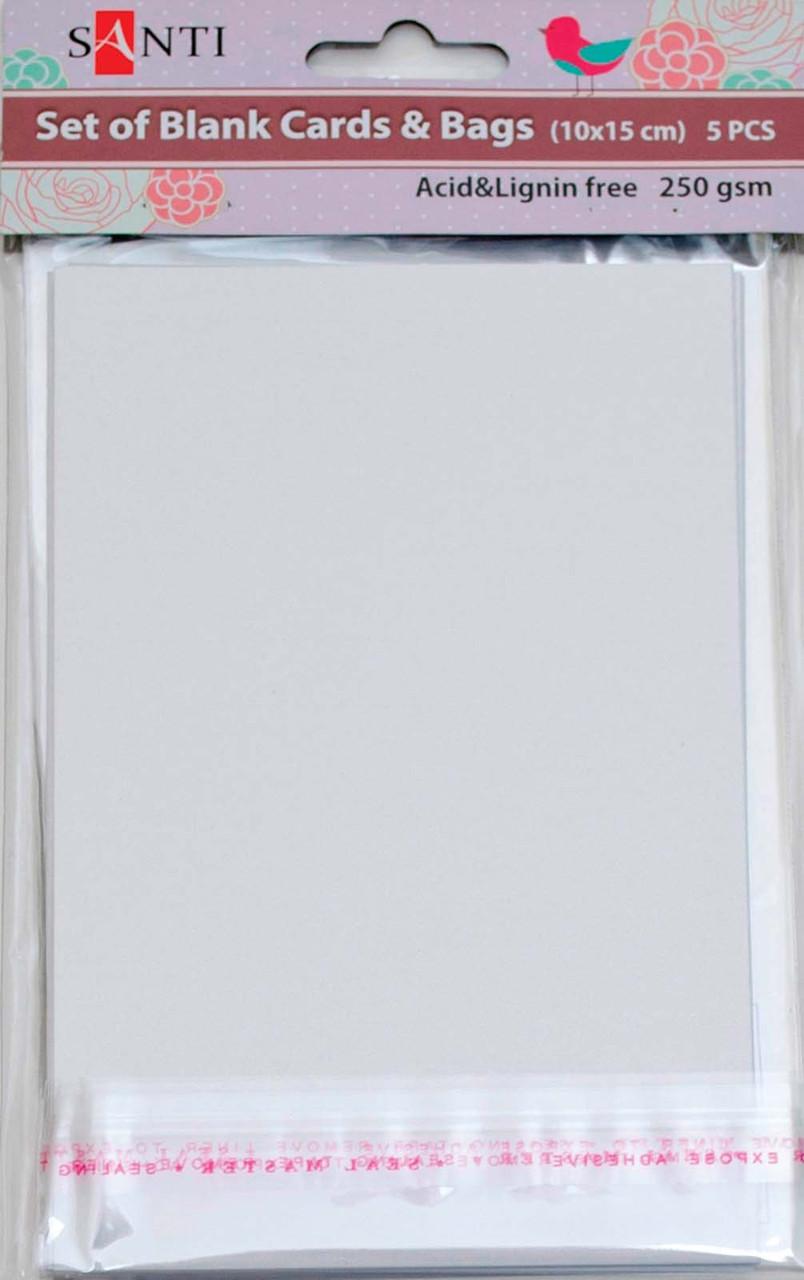 """Набор белых перламутровых заготовок для открыток, 10см*15см, 250г/м2, 5шт.   952240   - Интернет-магазин """"Гранд""""  в Киеве"""