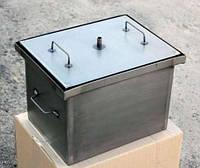 Коптильня с гидрозатвором 2 уровня и поддон 400х310х280 металл 1 мм