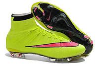 Футбольные бутсы Nike Mercurial Superfly FG Volt/Hyper Pink/Black, фото 1