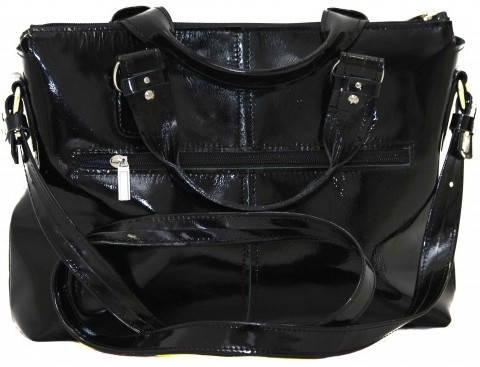 Практичная черная женская сумка из натуральной кожи VATTO Wк20LMer1