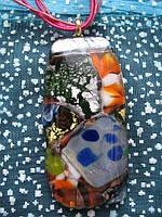 Кулон из муранского стекла 3х6см Р-07, фото 1